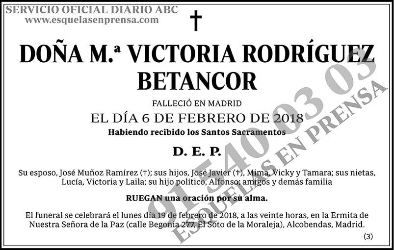 M.ª Victoria Rodríguez Betancor